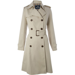 Beige Lana Trench Coat, Aquascutum