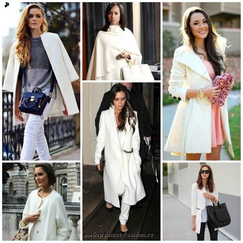 Белое пальто с чем носить