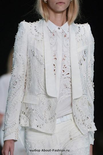 Белые блузки 2013 фото - 016