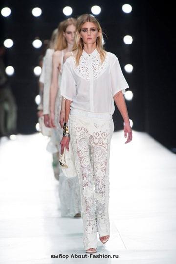 Белые блузки 2013 фото - 017