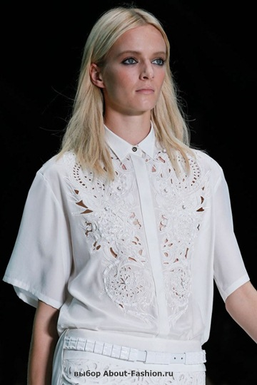 Белые блузки 2013 фото - 019