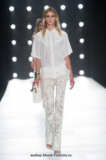 Белые блузки 2013 фото - 020