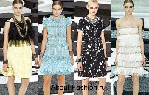 Модные платья весна-лето 2011: Chanel, Adam, Badgley Mischka на фото.