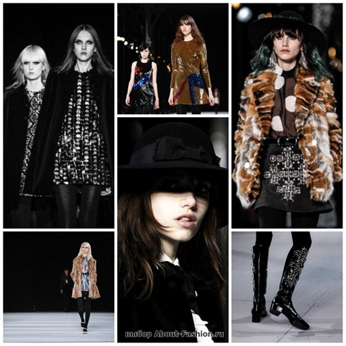 Saint Laurent осень-зима 2014-2015