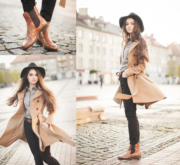 Бежевое пальто2