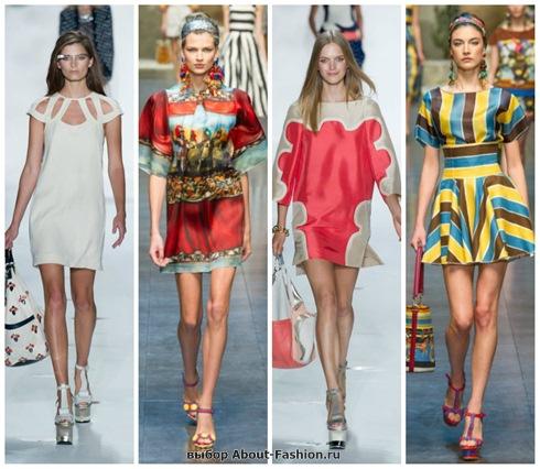 короткие летние платья 2013-13