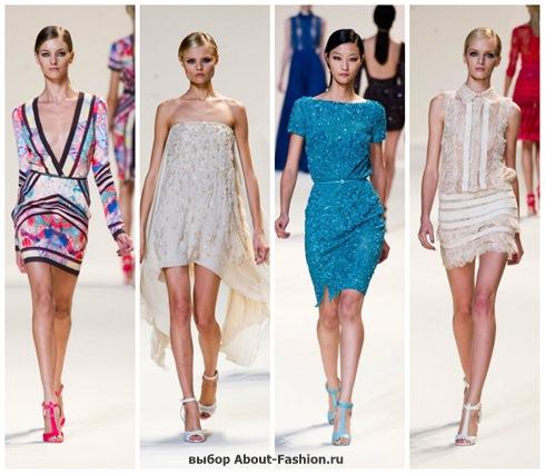 короткие летние платья 2013-16