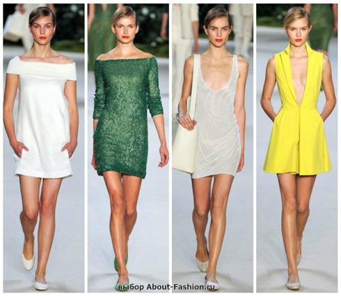 короткие летние платья 2013-2