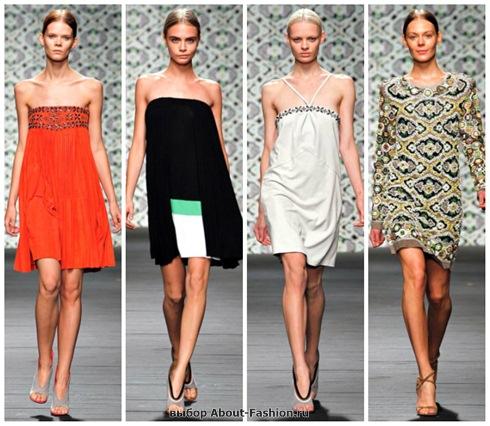 короткие летние платья 2013-23