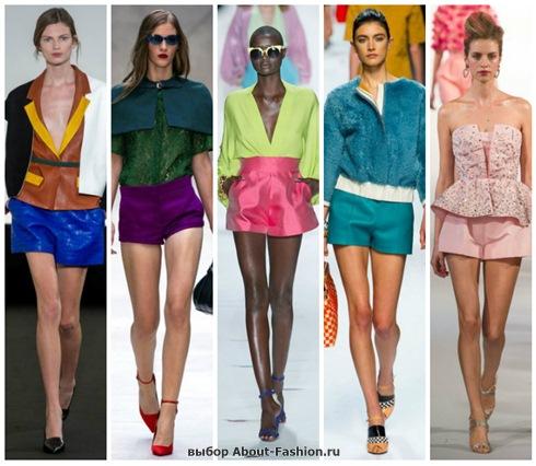 модные шорты 2013 с подиума!