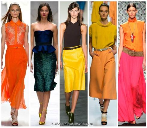 модные юбки 2013 с подиума!