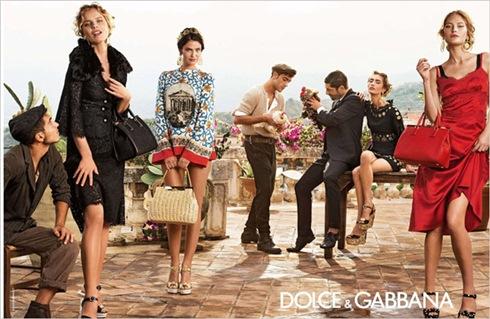 рекламная кампания Prada Dolce Gabbana 2014 - 001