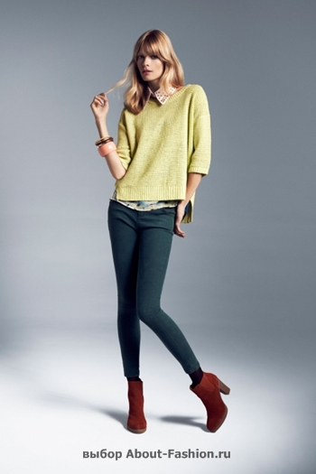 узкие брюки, вязаные свитера, коллекция reserved fall 2012 -009